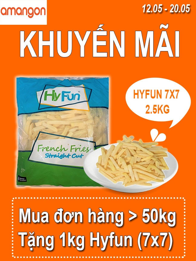 Banner khuyến mãi khoai Hyfun
